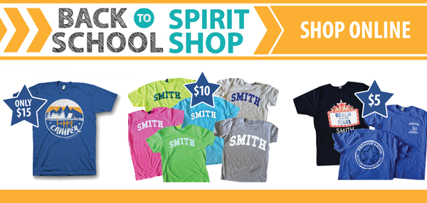 in-stock Shirts and spirit items!